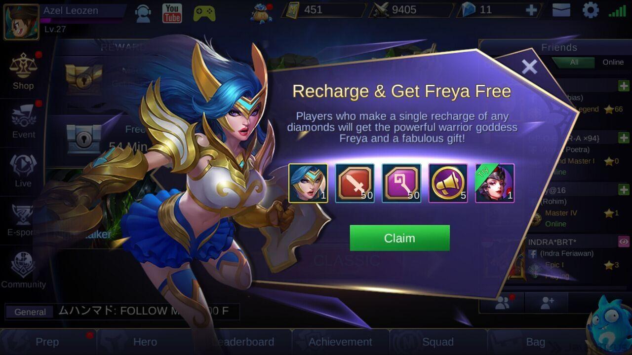Murah Begini Cara Dapat Freya Mobile Legends Modal Rp 3 000