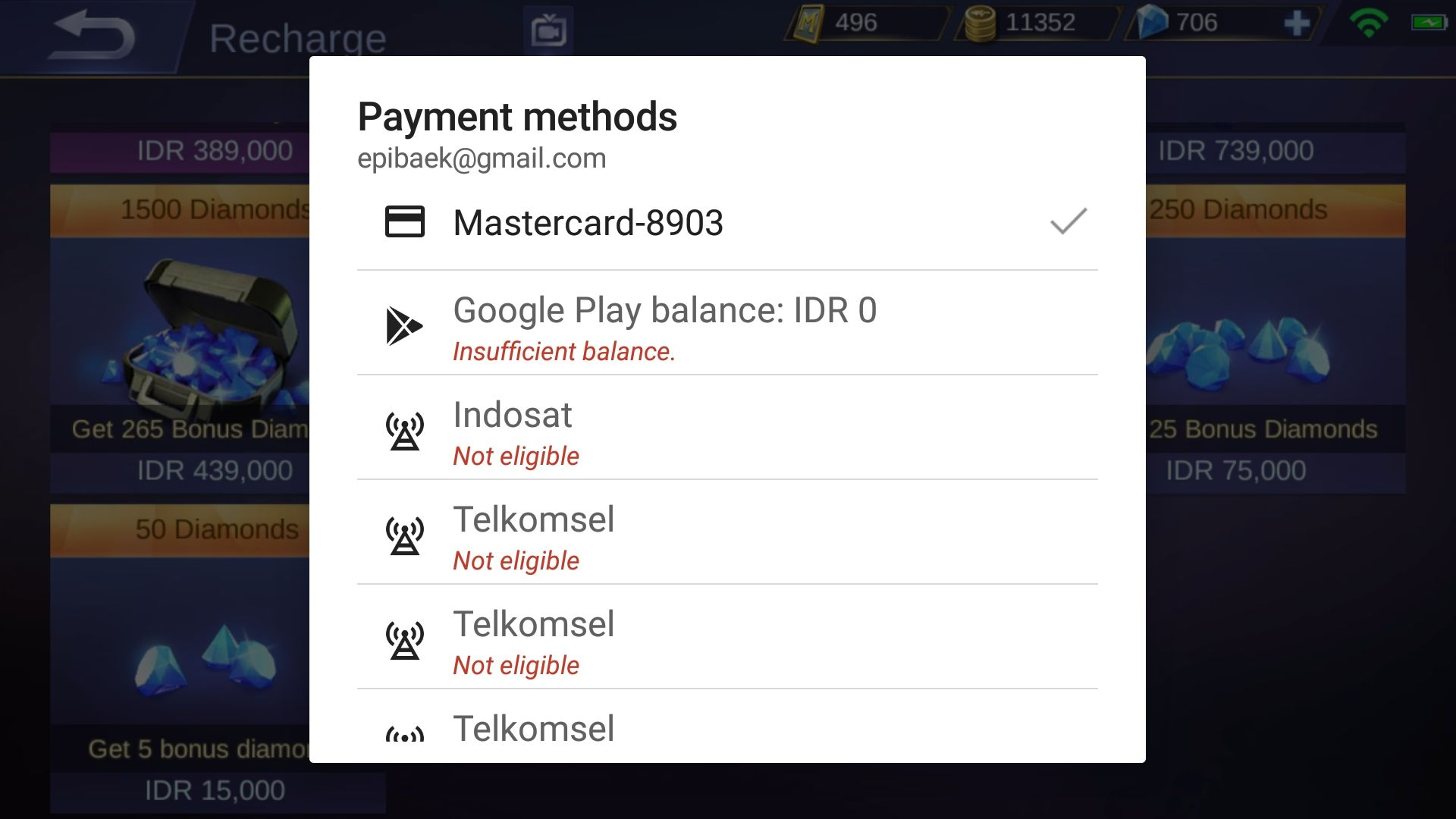 Cara Beli Diamond Mobile Legends Dengan Voucher Google Play Belanja Hero Seratus Ribuan Diamonds