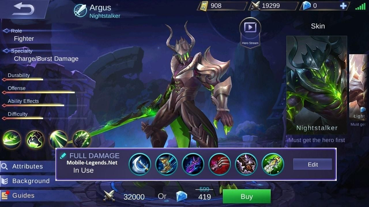 Mobile Legends Argus Full Damage Build 0b13a