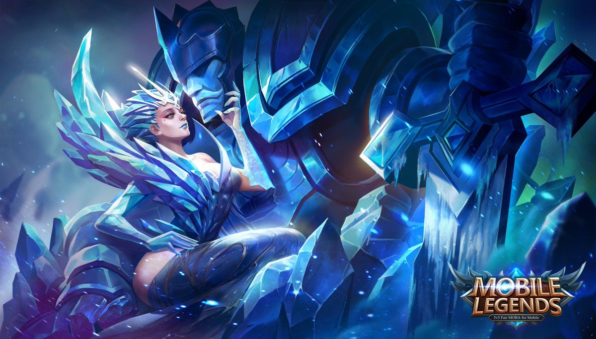 Wallpaper Mobile Legends Aurora Queen Of The North