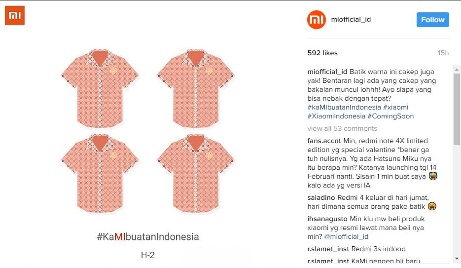 Xiaomi Made In Indonesia 2