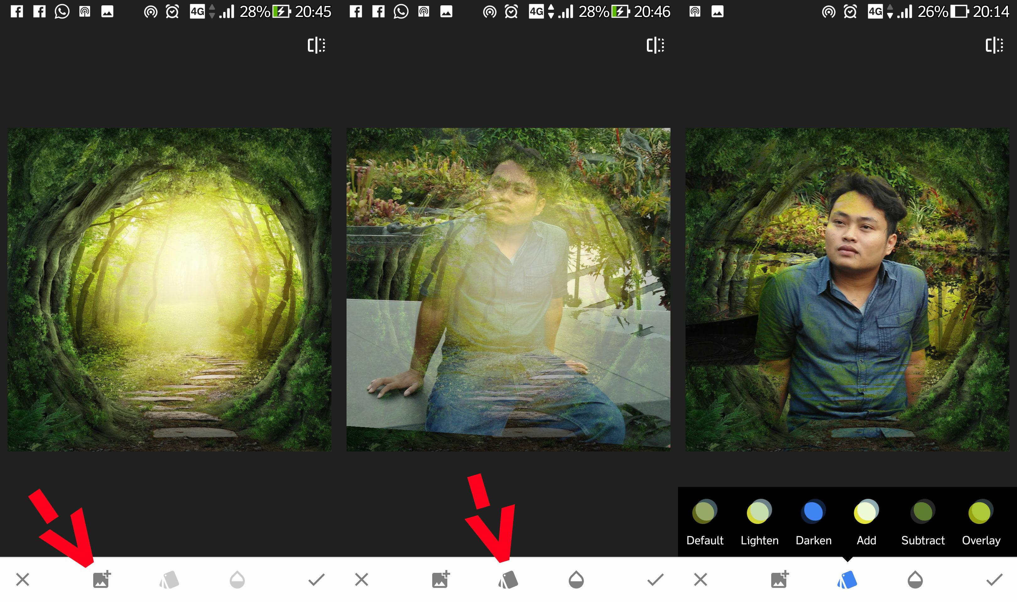 Cara Edit Foto Double Exposure Dengan Snapseed 2