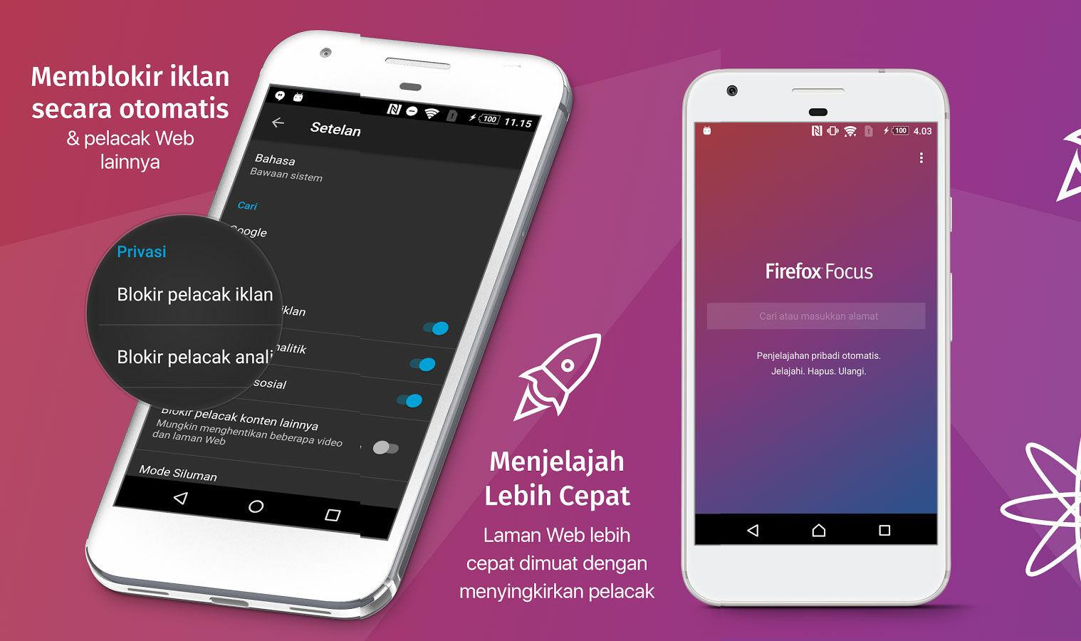 Cara Browsing Dengan Aman Di Android Dengan Firefox Focus