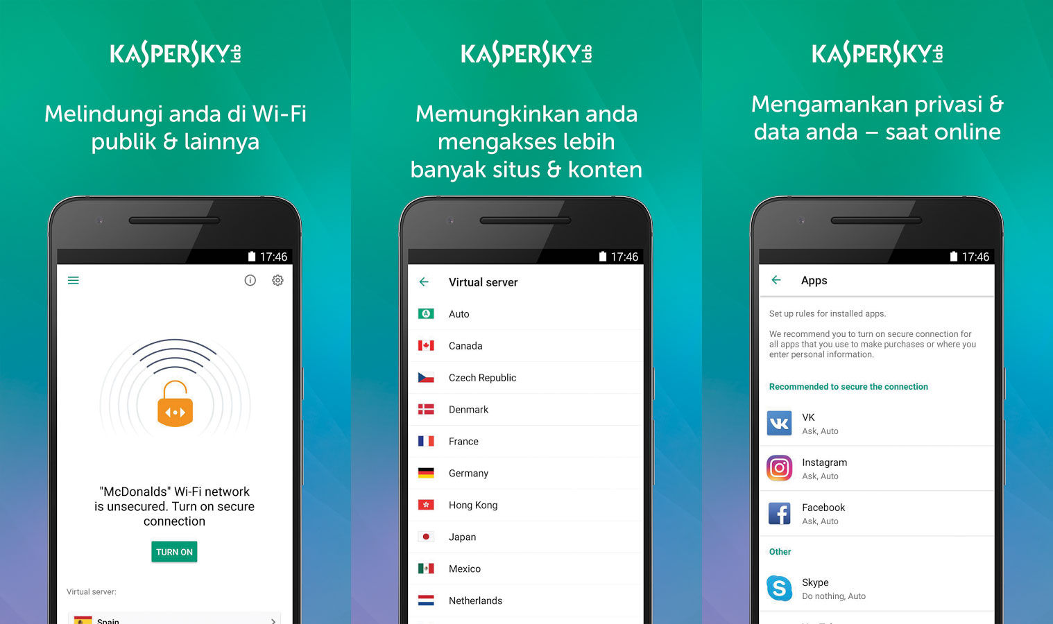 Aplikasi Android Terbaik Kaspersky Vpn