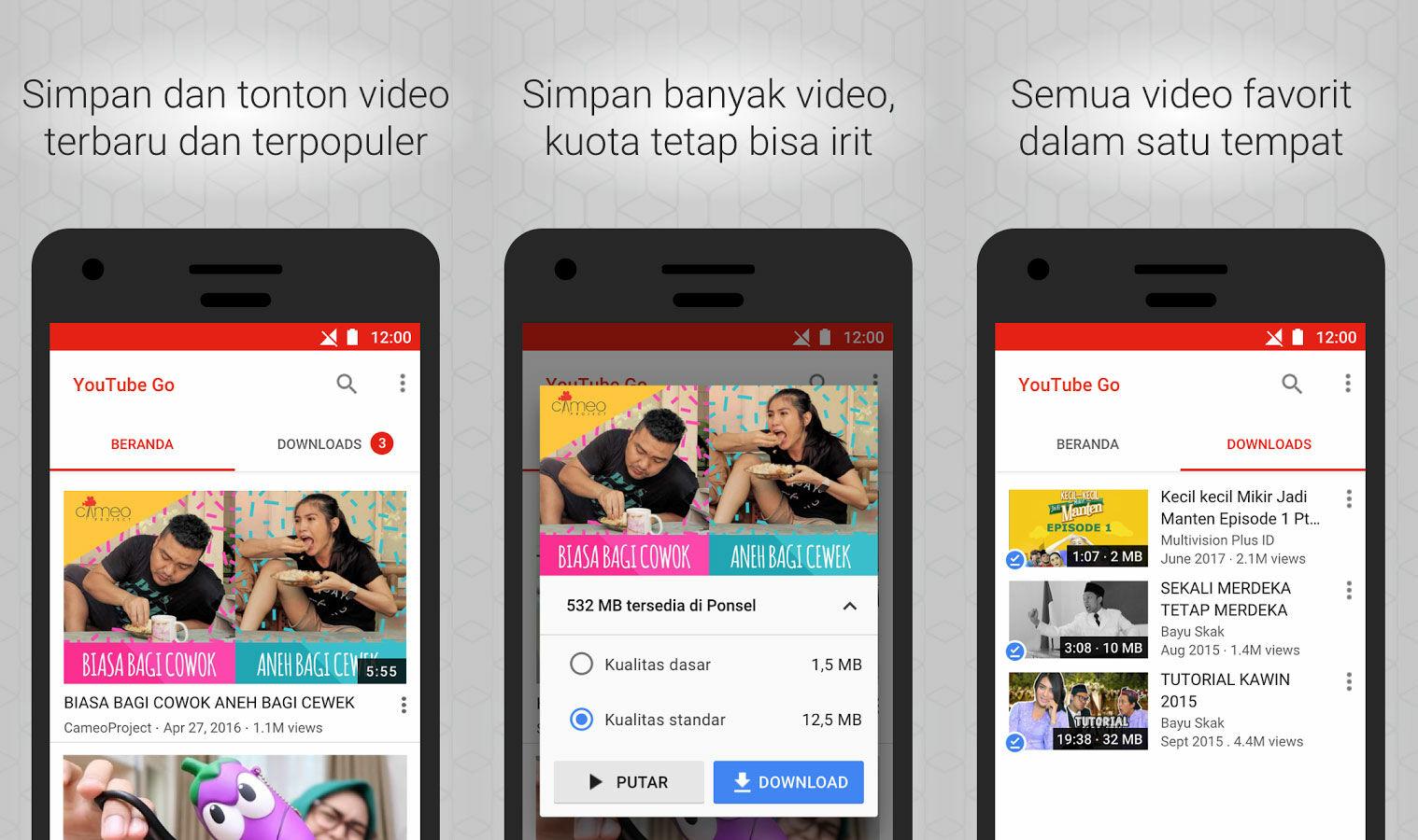 Nonton Video Hemat Kuota Dengan Youtube Go