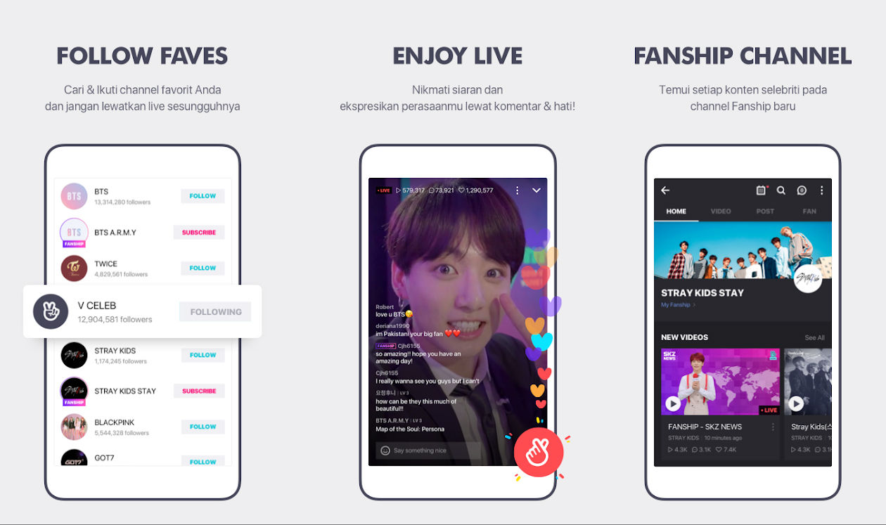 Aplikasi Live Streaming Vlive B6012