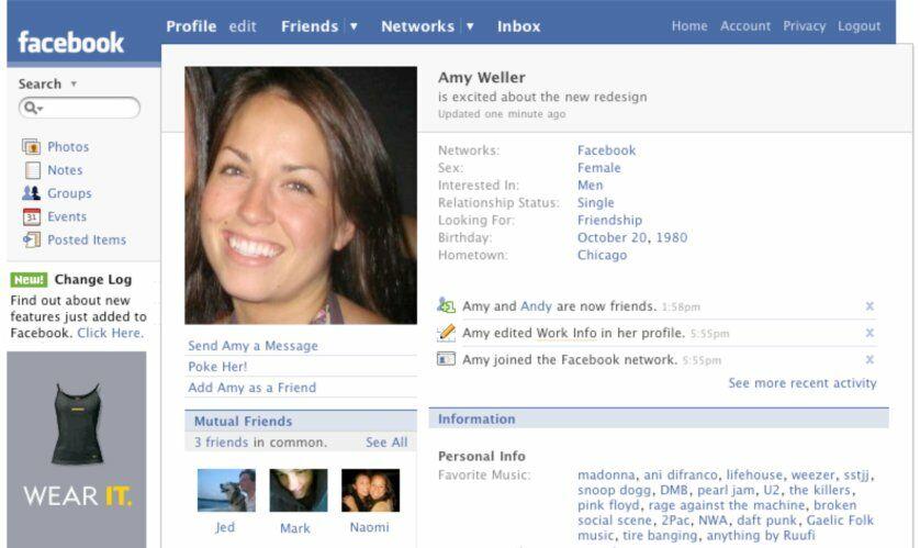 Sejarah Tampilan Facebook Tahun 2007