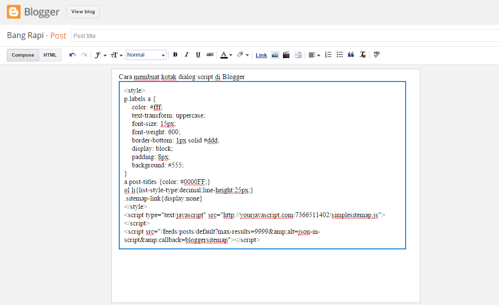 Cara Membuat Dialog Script Blog 5
