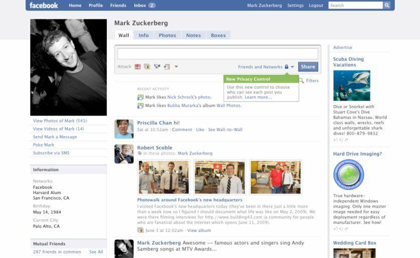 Sejarah Tampilan Facebook Tahun 2009