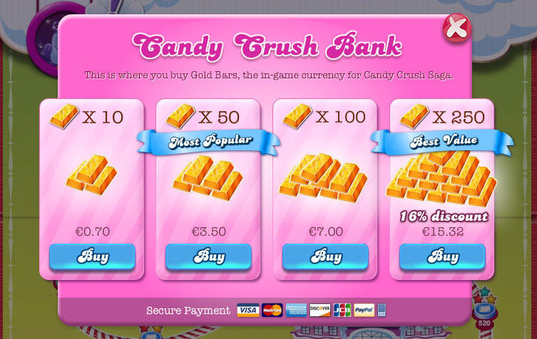 Candy Crush Bank In App