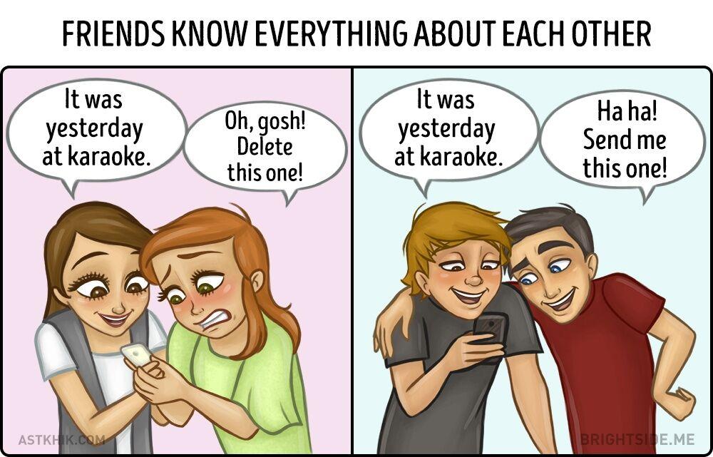 Perbedaan Persahabatan Cewek Dan Cowok 5