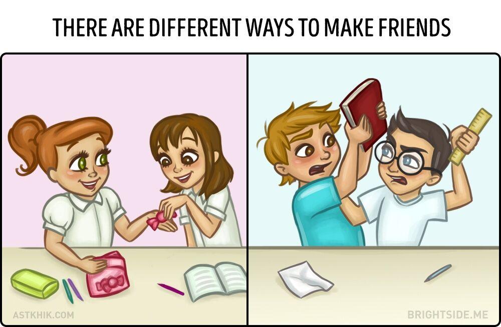 Perbedaan Persahabatan Cewek Dan Cowok