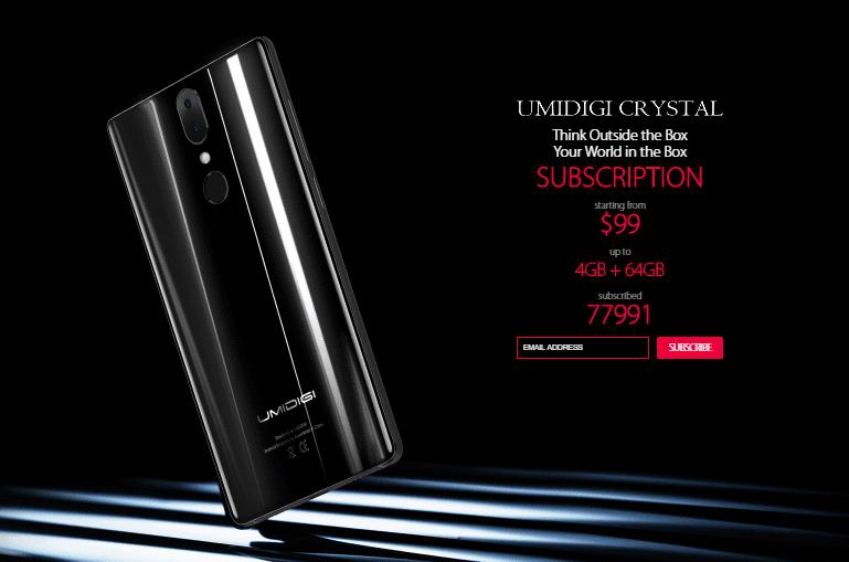 Umidigi Crystal Smartphone Tanpa Bezel Sejutaan 1