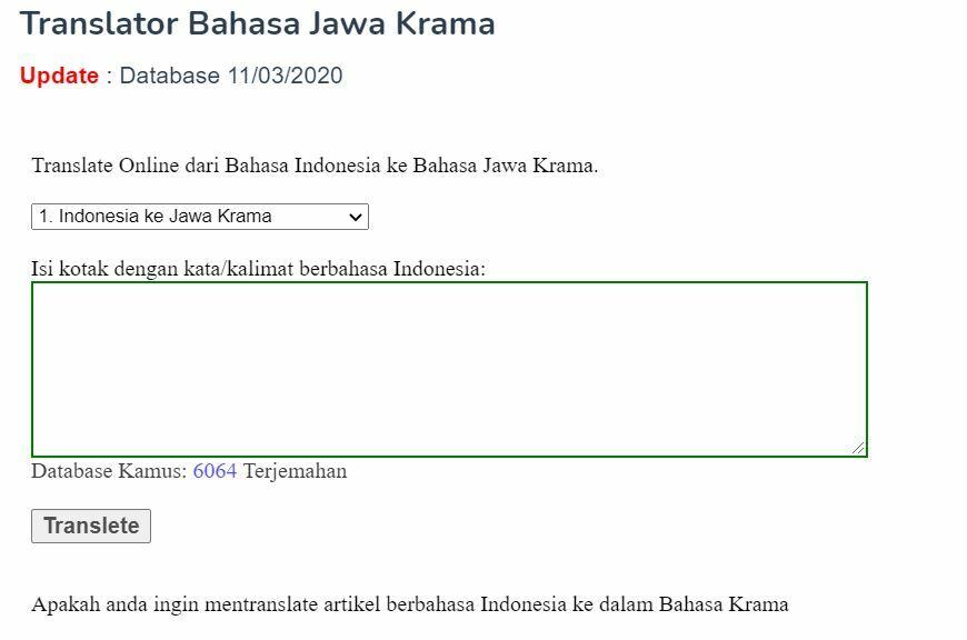Translator Bahasa Jawa Krama 167e4