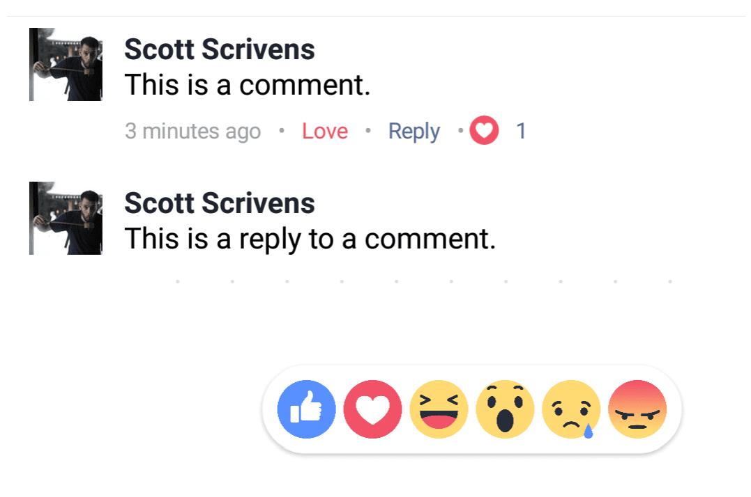 Facebook Reaction Komentar 1