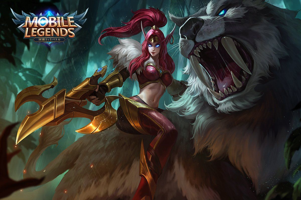 Wallpaper Mobile Legends Irithel Jungle Heart