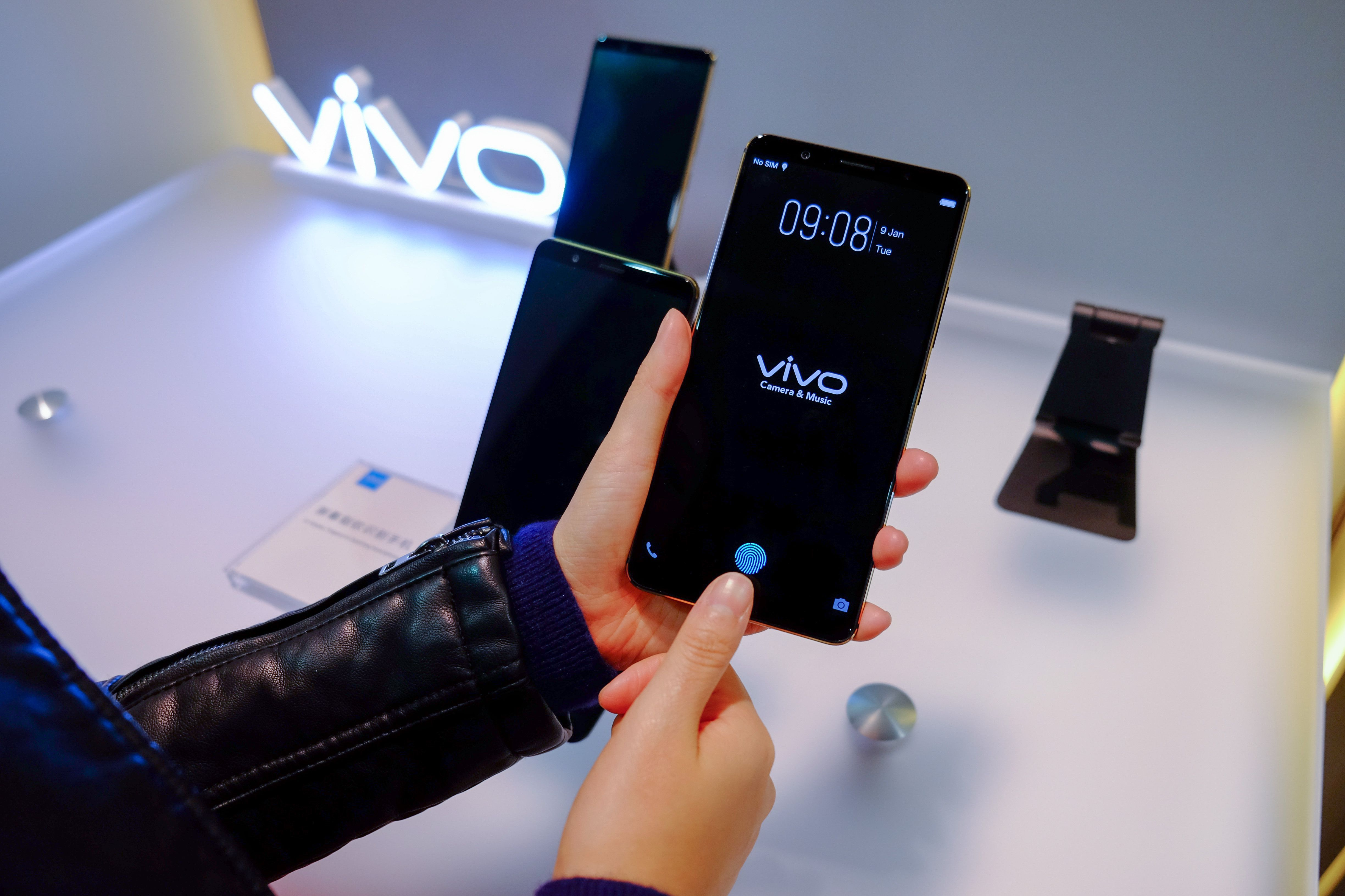 Smartphones With Fingerprint Screen Produced Vivo Ready!