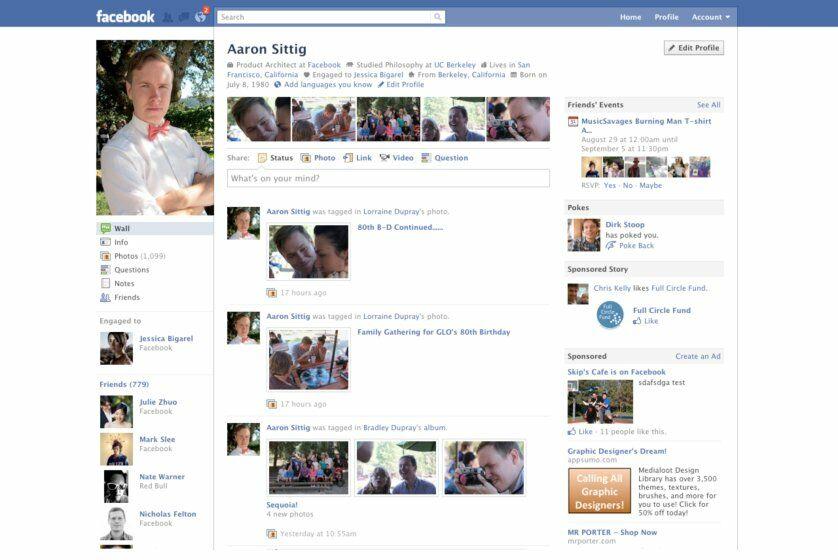 Sejarah Tampilan Facebook Tahun 2010