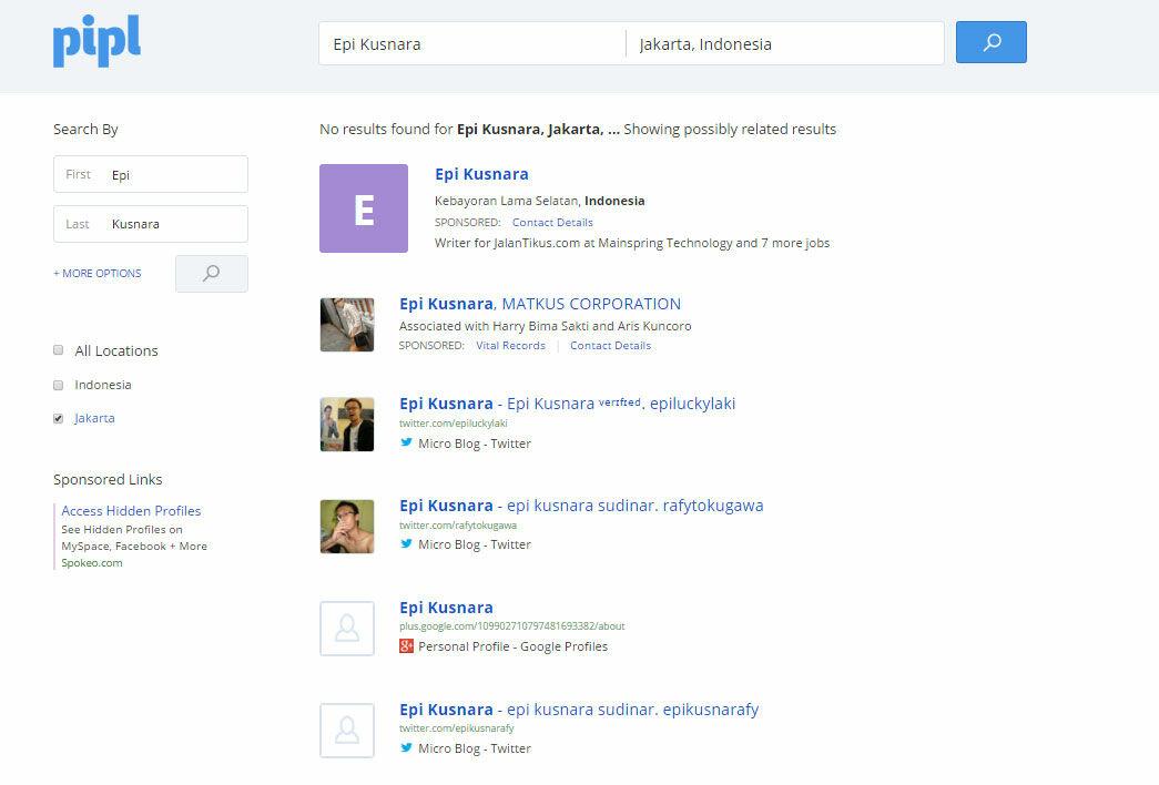 cara mencari biodata orang di internet