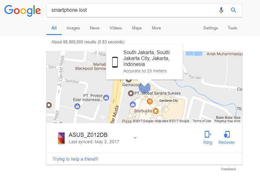 Cara Mencari Smartphone Hilang Di Google 4