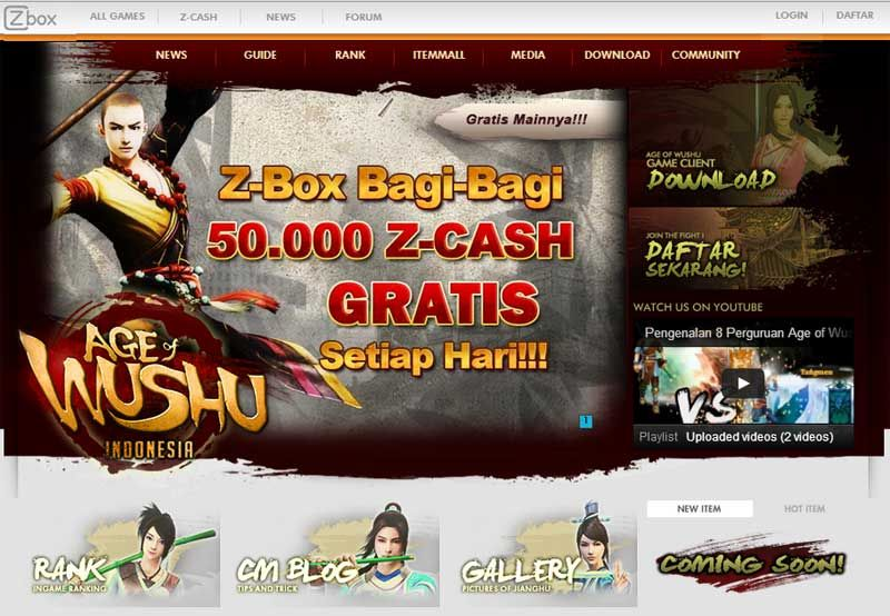 Website Dan Trailer Age Of Wushu Online Indonesia