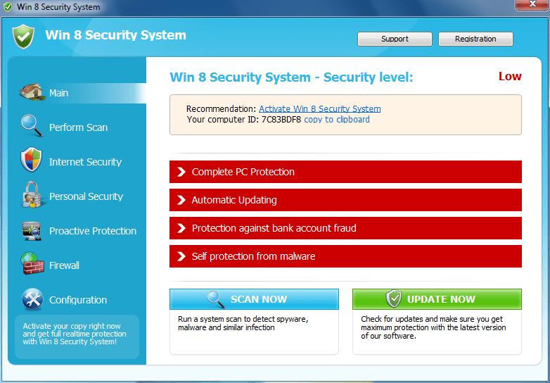 Windows 8 Security System Virus
