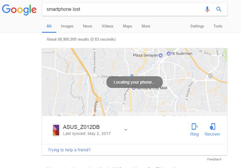 Cara Mencari Smartphone Hilang Di Google 3