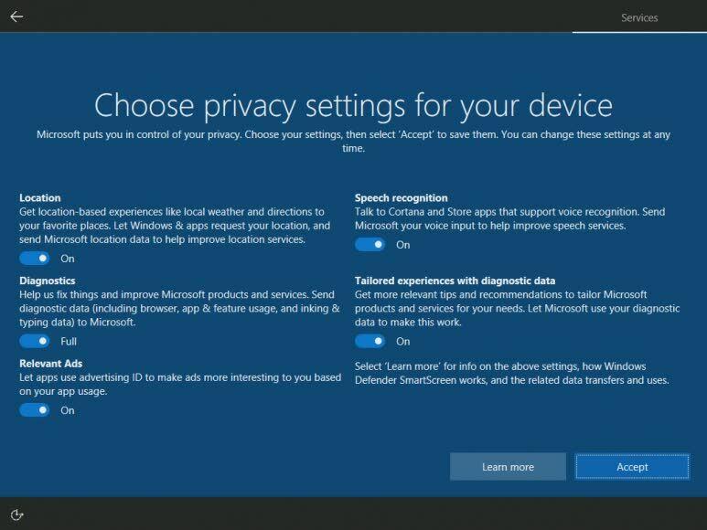Data Yang Dikumpulkan Microsoft Tingkat Full