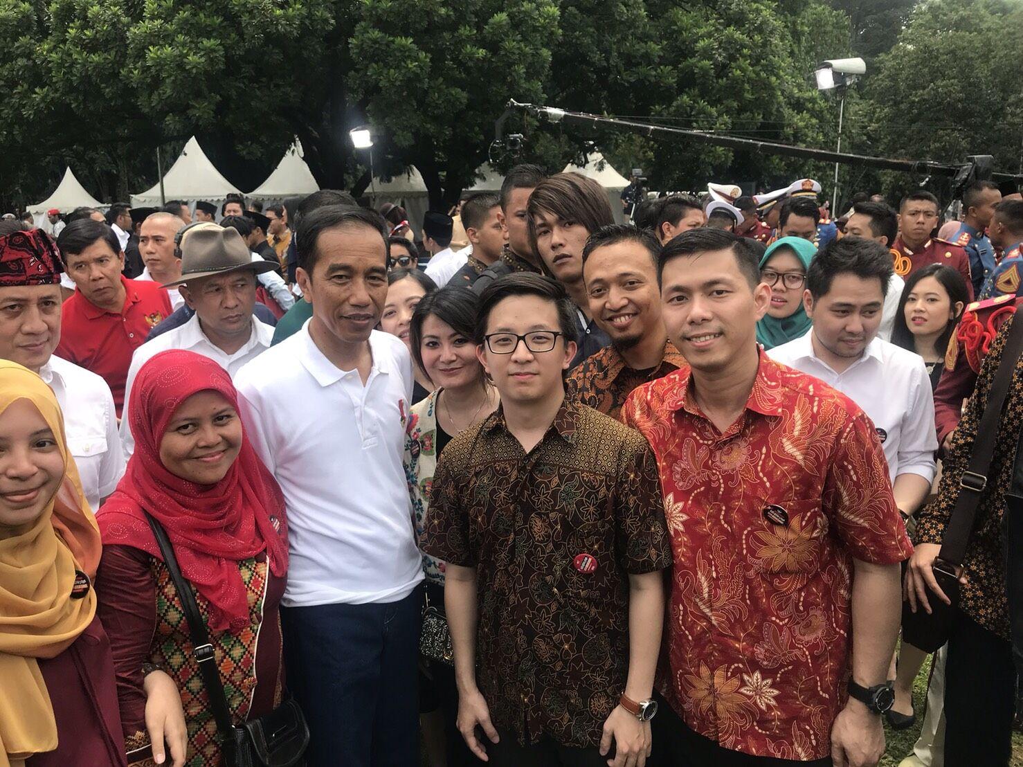Presiden Jokowi Bersama Para Kreator