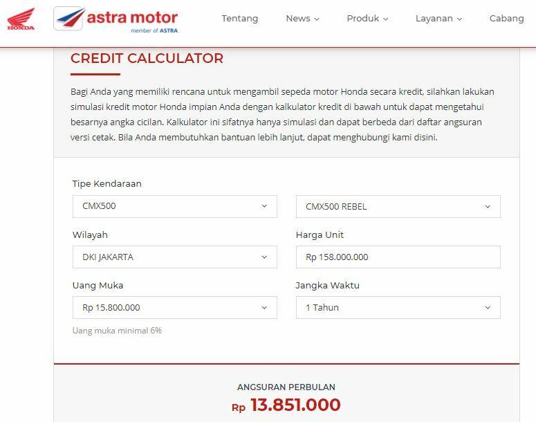 Simulasi Kredit Honda 4997e