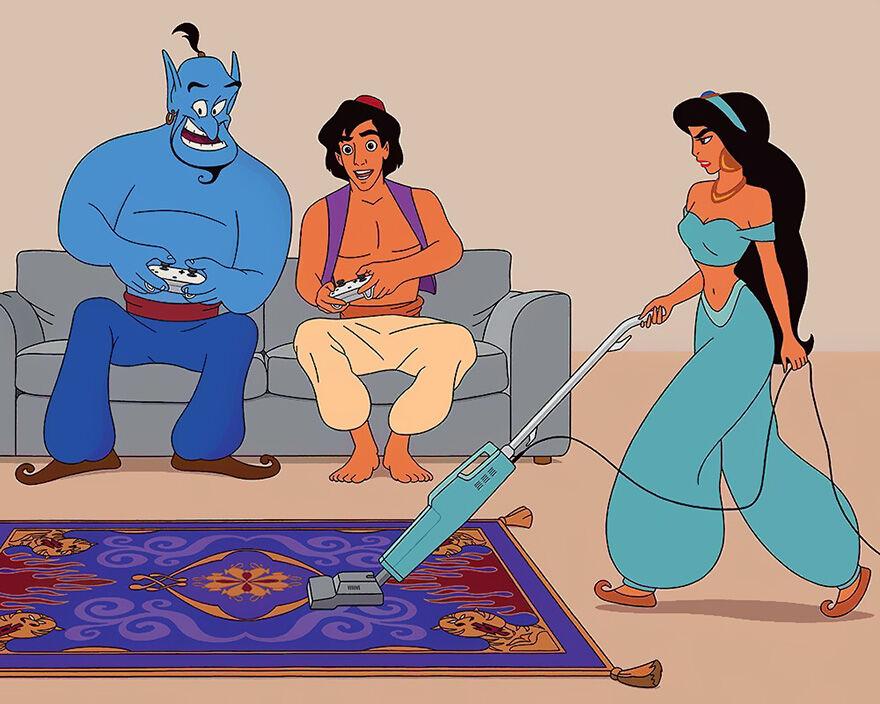 Aladdin Yang Sibuk Dengan Dunia Game