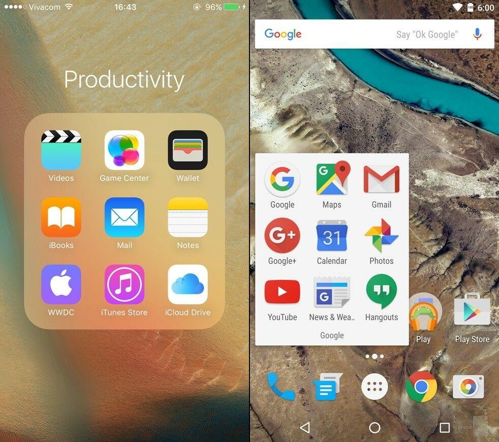 Android Marshmallow Vs Ios 9 4