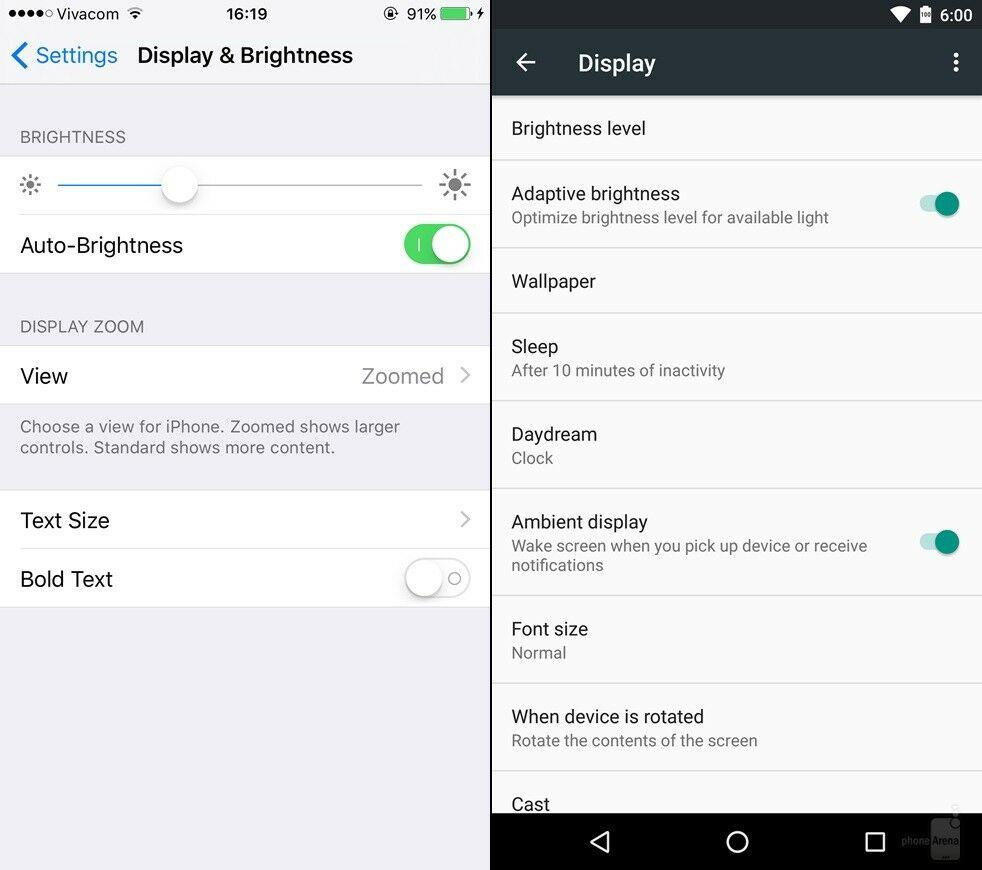Android Marshmallow Vs Ios 9 9