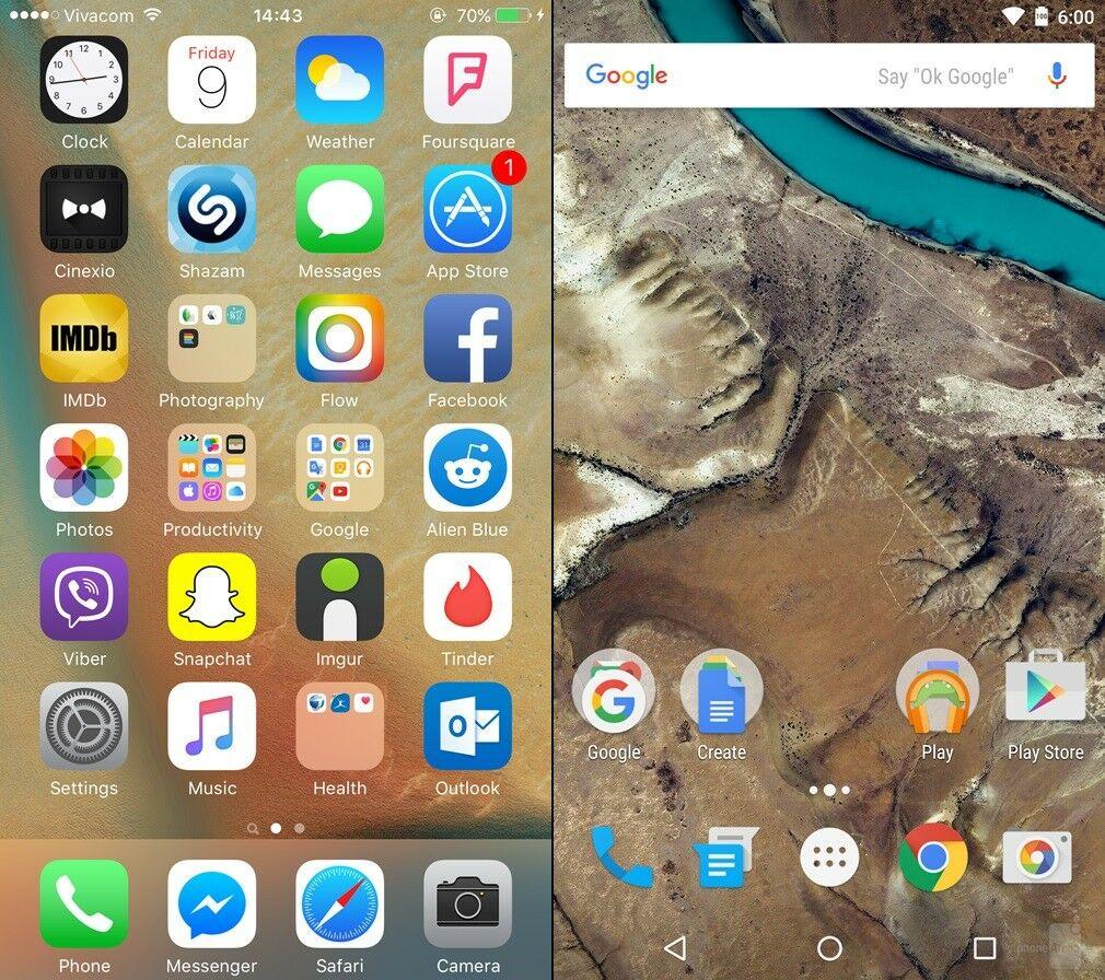 Android Marshmallow Vs Ios 9 2