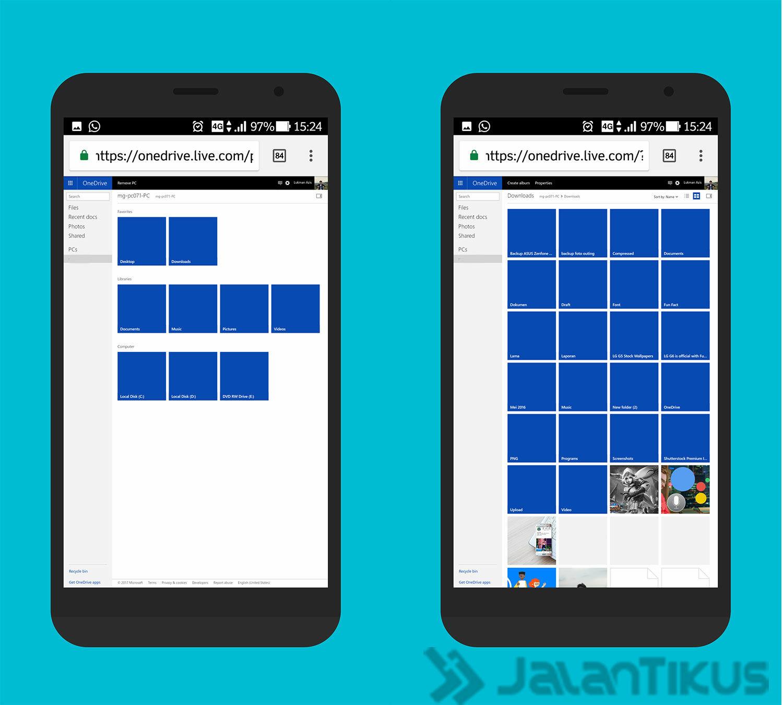 Cara Akses File Komputer Dari Android 12