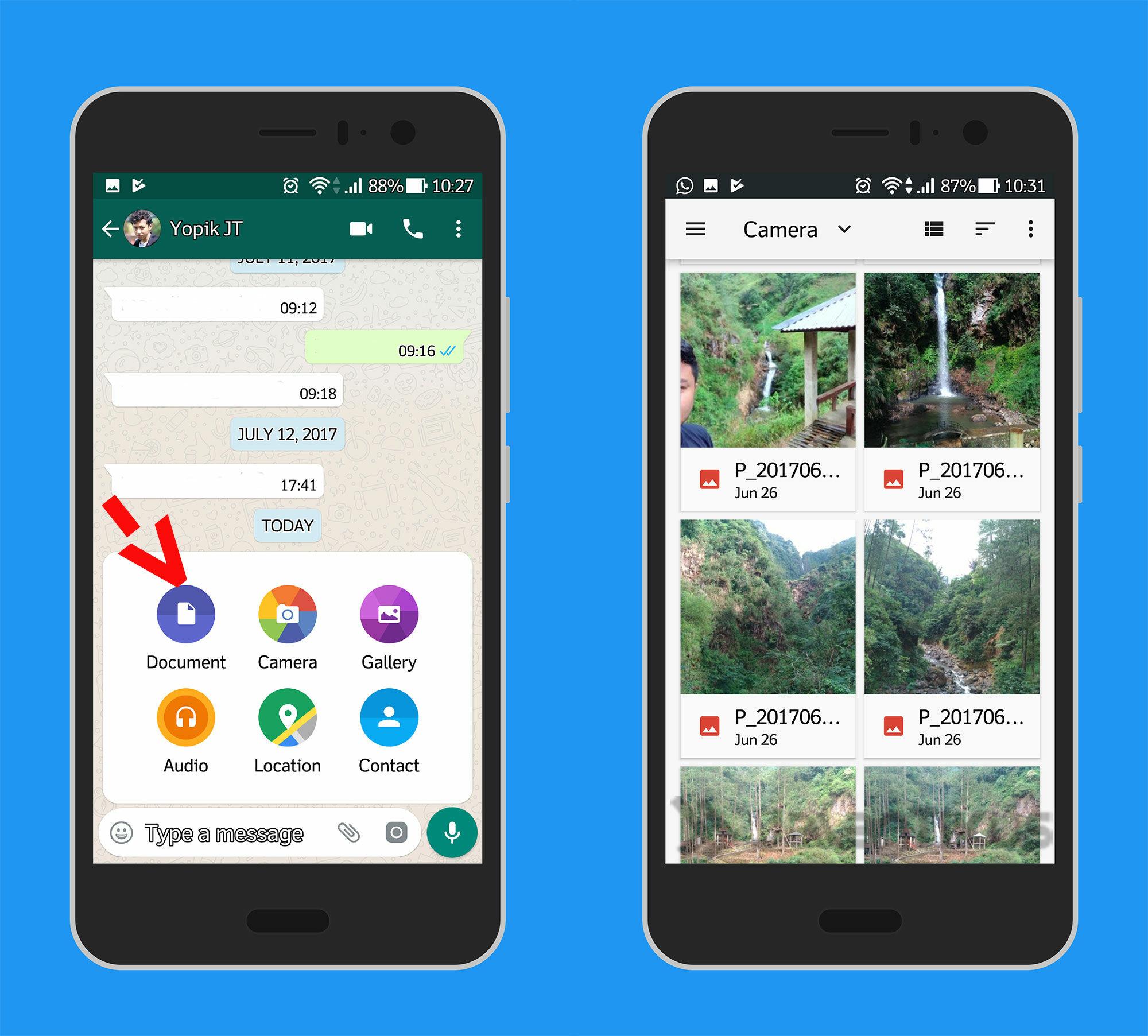 Cara Mengirim Gambar Tanpa Mengurangi Kualitas Di Whatsapp 1