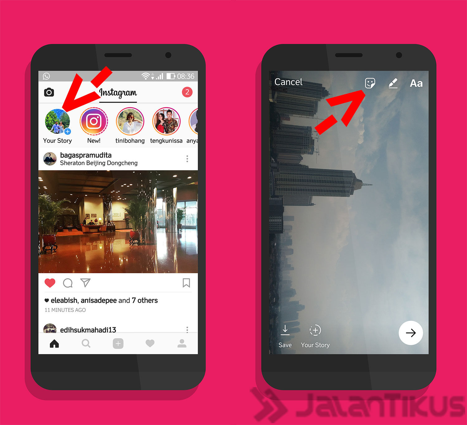 Geolocation Sticker Jakarta Instagram Stories 1