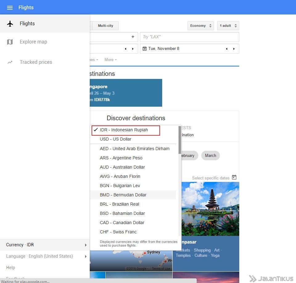Google Flights Untuk Cari Tiket Pesawat Murah 2