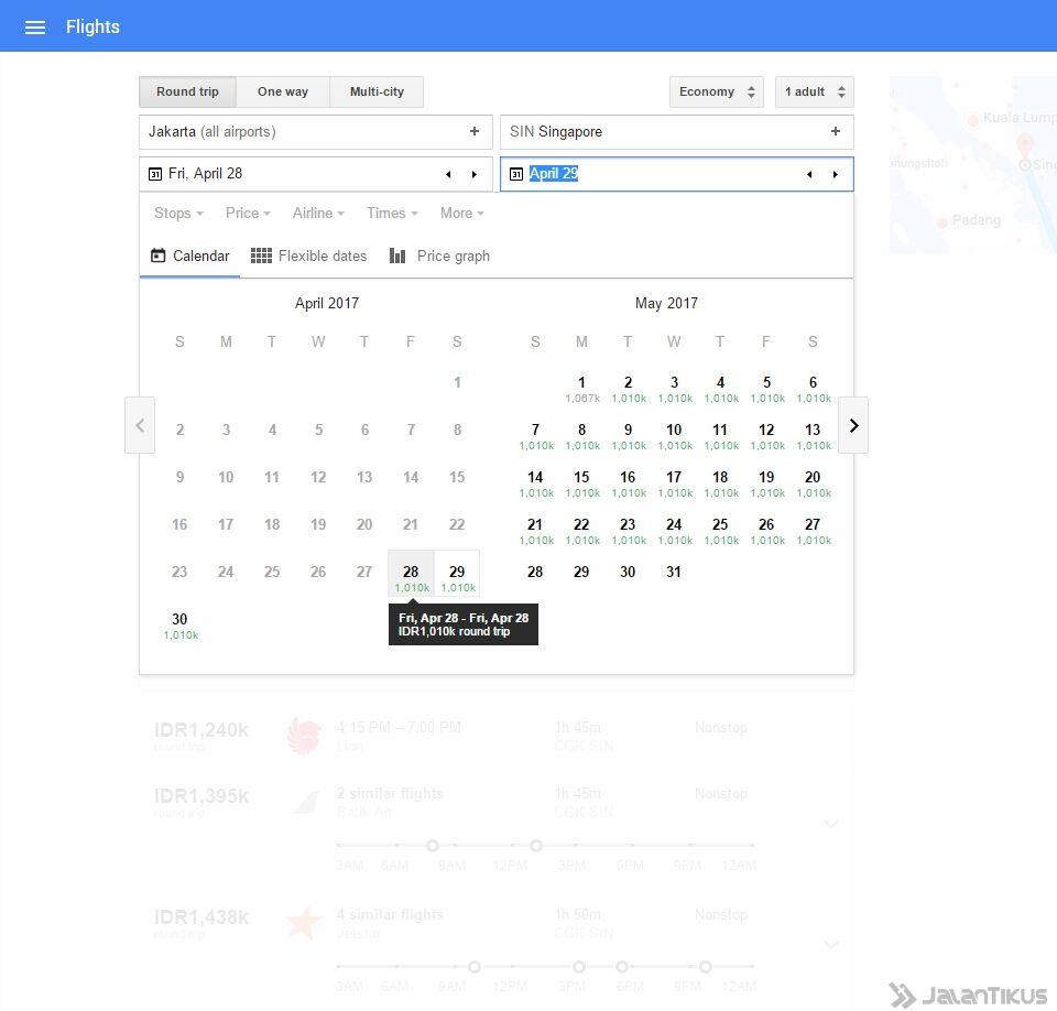 Google Flights Untuk Cari Tiket Pesawat Murah 3