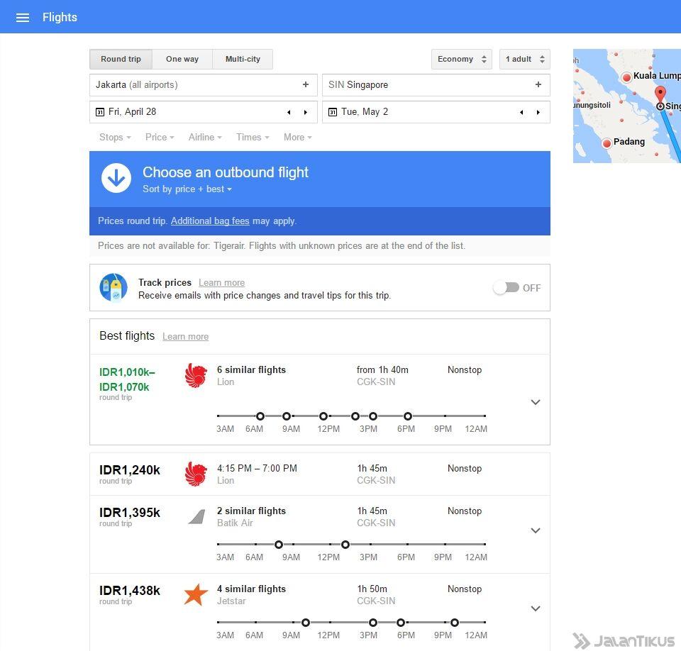 Google Flights Untuk Cari Tiket Pesawat Murah 4
