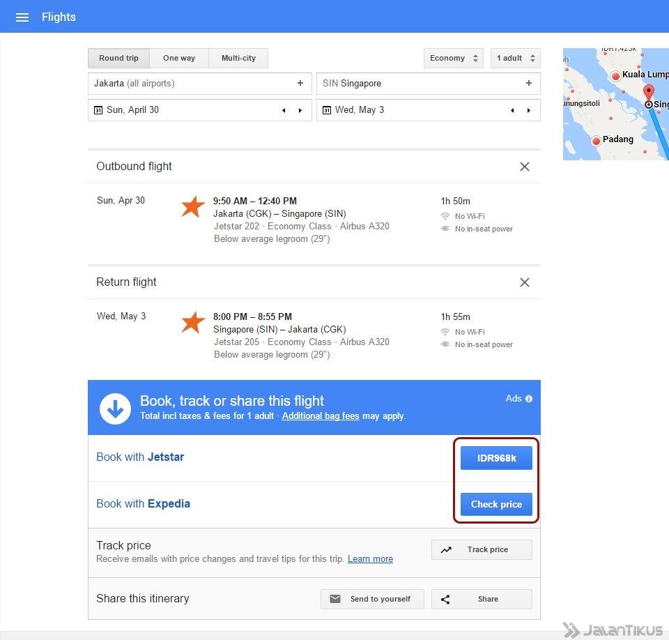 Google Flights Untuk Cari Tiket Pesawat Murah 5