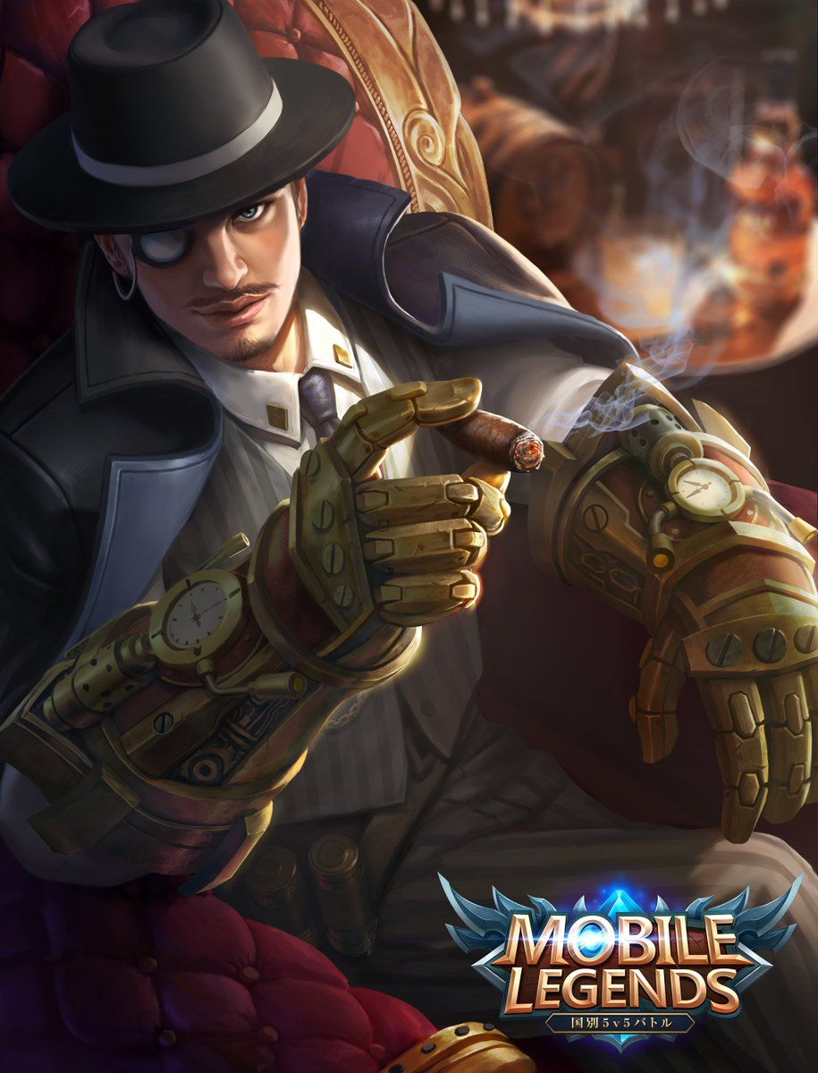 Wallpaper Mobile Legends Roger Dark Gent