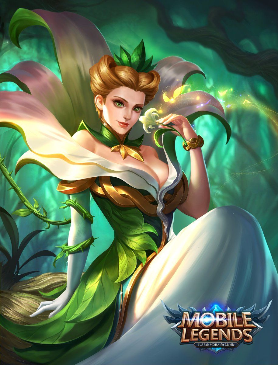 Wallpaper Mobile Legends Aurora Natures Throne