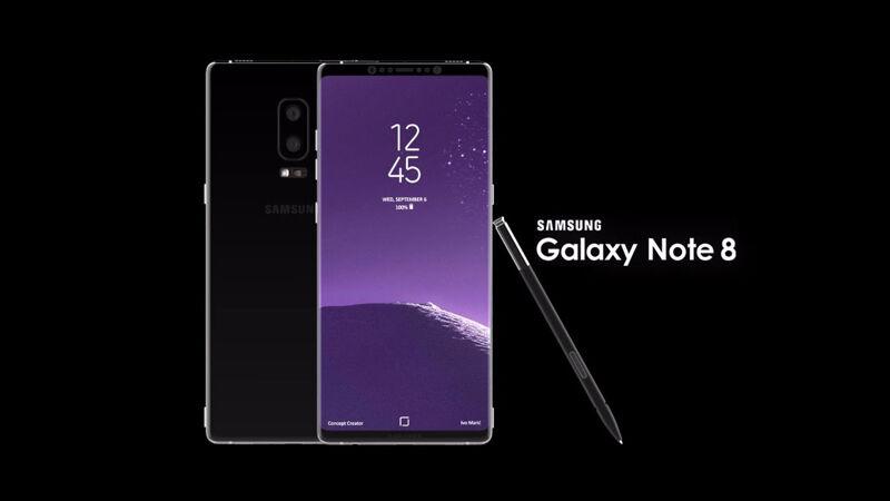 Konsep Galaxy Note 8 oleh Concept Creator